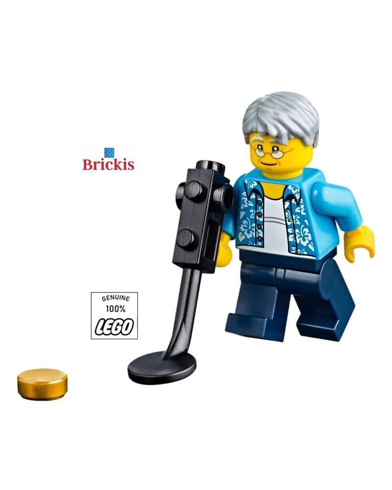 LEGO® Minifiguur Opa Metaaldetector Schattenjager op het strand