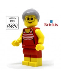 LEGO® City Strand Oma Minifiguur oudere vrouw in zwempak