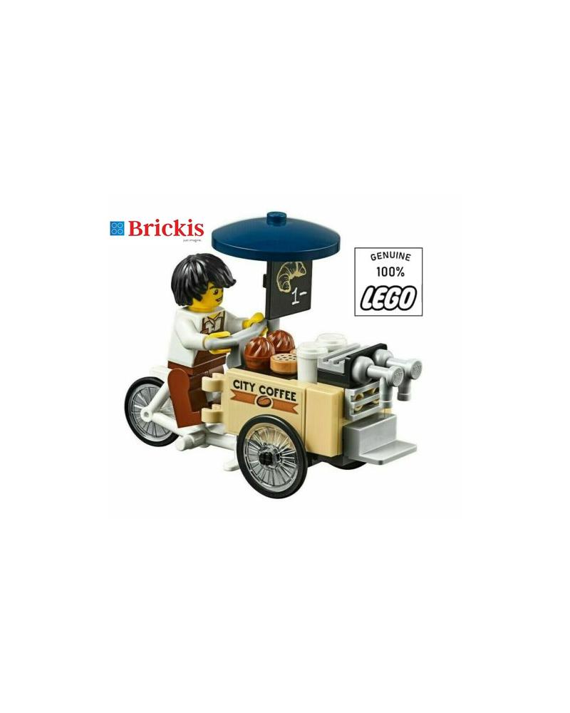 LEGO® City Koffiestand Koffiekar verkoper + minifiguur
