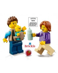 LEGO® Minifigures Papa Mama Baby + accessories