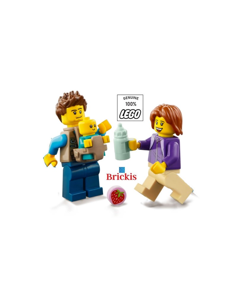 LEGO® Minifiguren Papa Mama Baby + accessoires