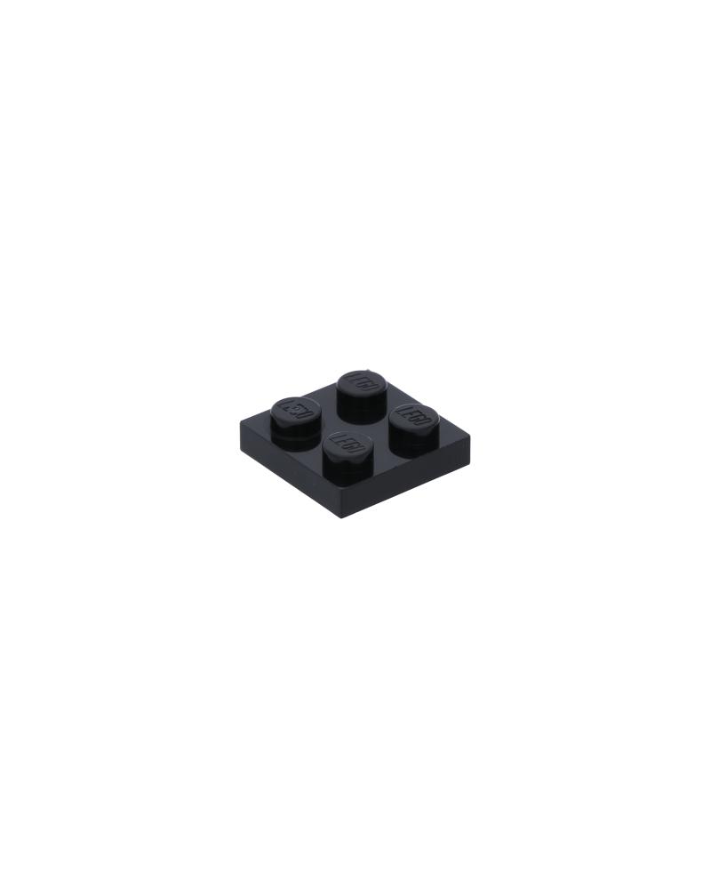 LEGO® Plaat 2x2 Zwart 3022