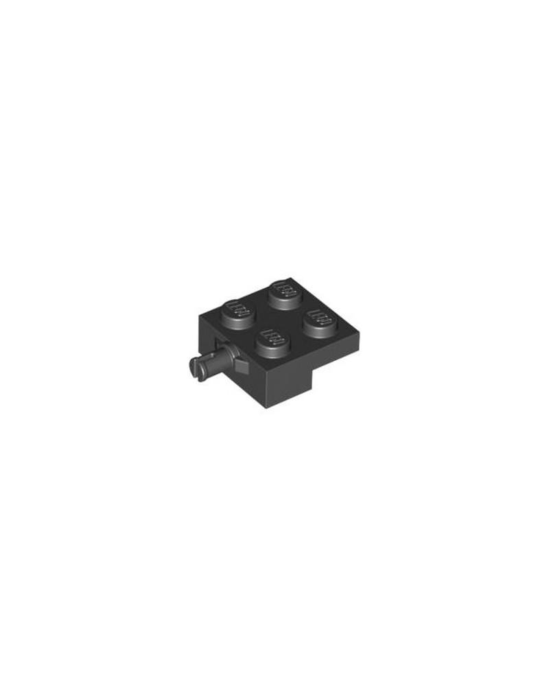 LEGO® Plaat Aangepast 2 x 2 met Wielhouder Zwart 4488