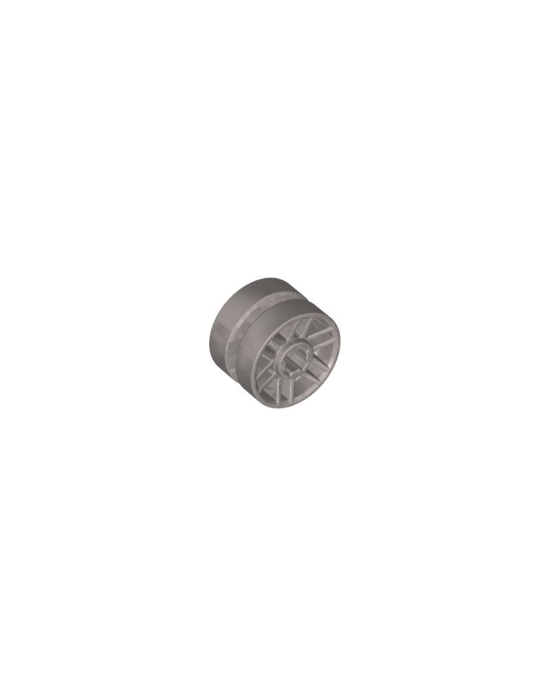 LEGO® wiel 14 mm D. x 9,9 mm met centrale groef, nepbouten en 6 dubbele spaken 11208