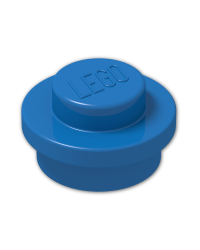 LEGO® Blauwe Plaat Rond 1x1