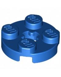 LEGO® Blauwe Plaat Rond 2x2 met Asgat 4032