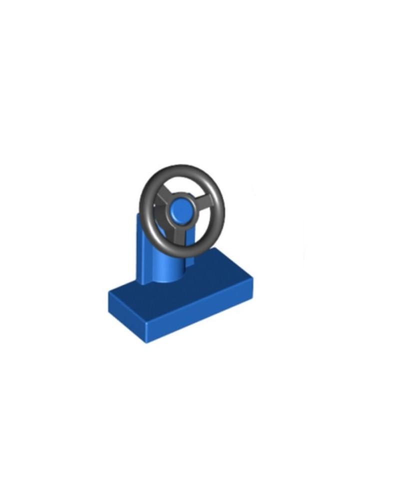 LEGO® blauwe stuurstandaard 1x2 met zwart stuur 3829c01