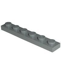 LEGO® Plaat 1x6 Donker blauwgrijs 3666