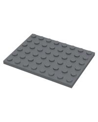 LEGO® Plaat 6x8 Donker blauwgrijs 3036