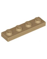 LEGO® Plaat 1x4 Dark Tan 3710