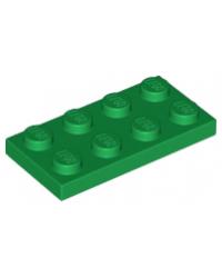 LEGO® Plaat 2x4 Groen 3020
