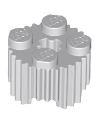 LEGO® steen rond 2x2 met gril en asgat 92947