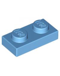 LEGO® Plaat 1x2 Medium Blauw 3023