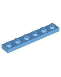 LEGO® Plaat 1x6 Medium blauw 3666