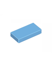 LEGO® Tegel 1x2 met groef 3069b Medium Blauw