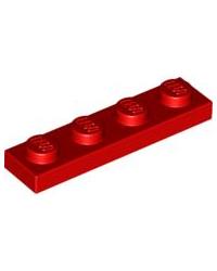 LEGO® Plaat 1x4 Rood 3710