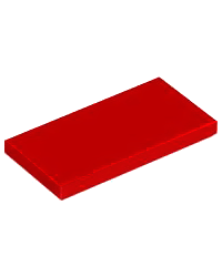 Tile LEGO® 2x4 Rouge 87079