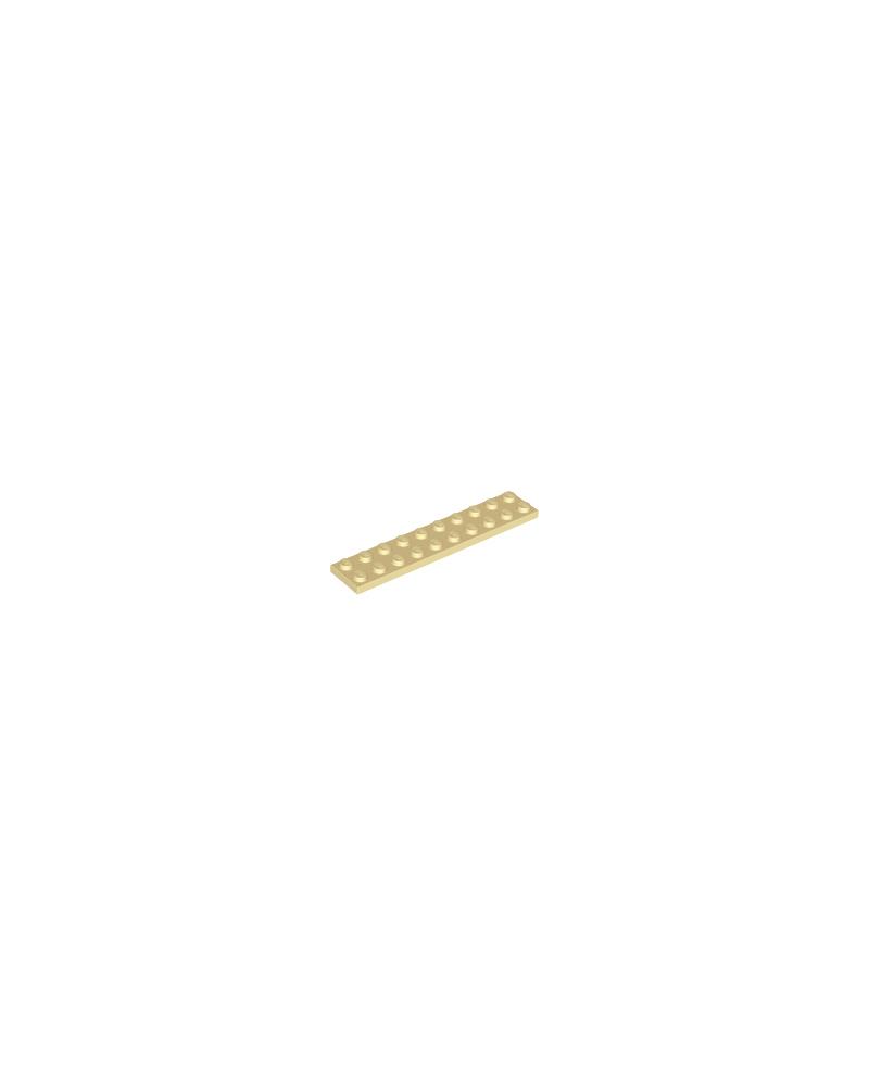 LEGO® Plaat 2x10 Tan 3832