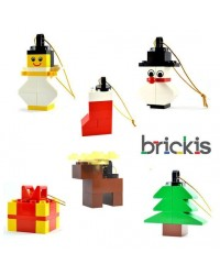 LEGO® Christmas Christmas tree Christmas ball for parties or table decoration