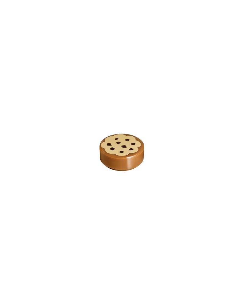 LEGO Tegel, Rond 1 x 1 met Cookie Chocolade Hagelslag 98138pb014