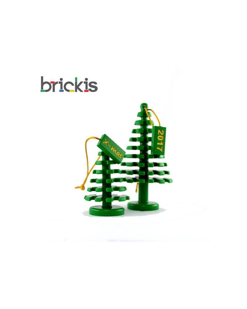 2x LEGO® Xmas tree for Christmas Xmas personalised