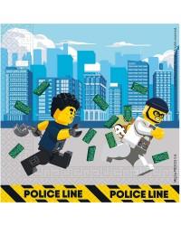 Servetten Lego City 33 x 33 cm papier blauw 20 stuks