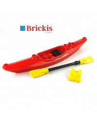 LEGO® red Kayak with paddle and lifejacket