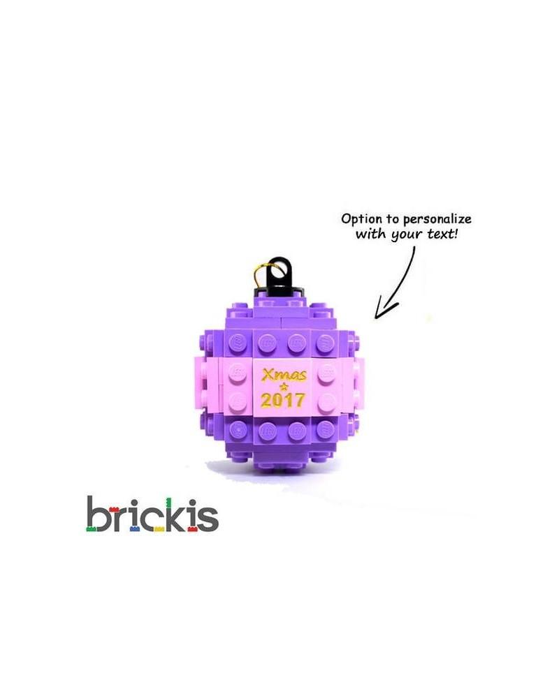 LEGO ® Kerstmis bal gegraveerd 2018