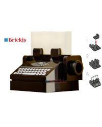 LEGO® Vintage typewriter with vintage keyboard from set 10278