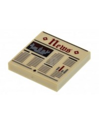 LEGO® Tile 2 x 2 with Groove with Newspaper 3068bpb0951 printed