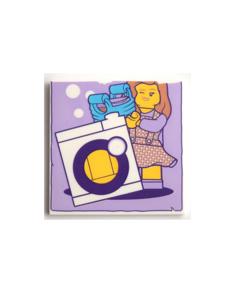 LEGO® Tile 6 x 6 Minifigure and Washing Machine 10202pb024  printed