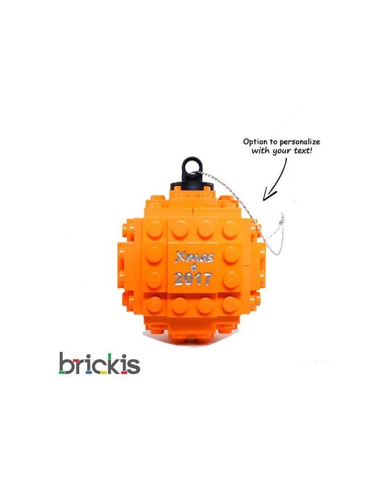 LEGO ® boule de Noël gravée 2018 orange