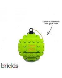 LEGO ® Kerstmis bal gegraveerd 2018 limoen groen