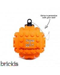 LEGO ® Kerstmis bal gegraveerd 2018 oranje