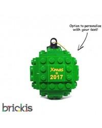LEGO ® Kerstmis bal gegraveerd 2018 groen