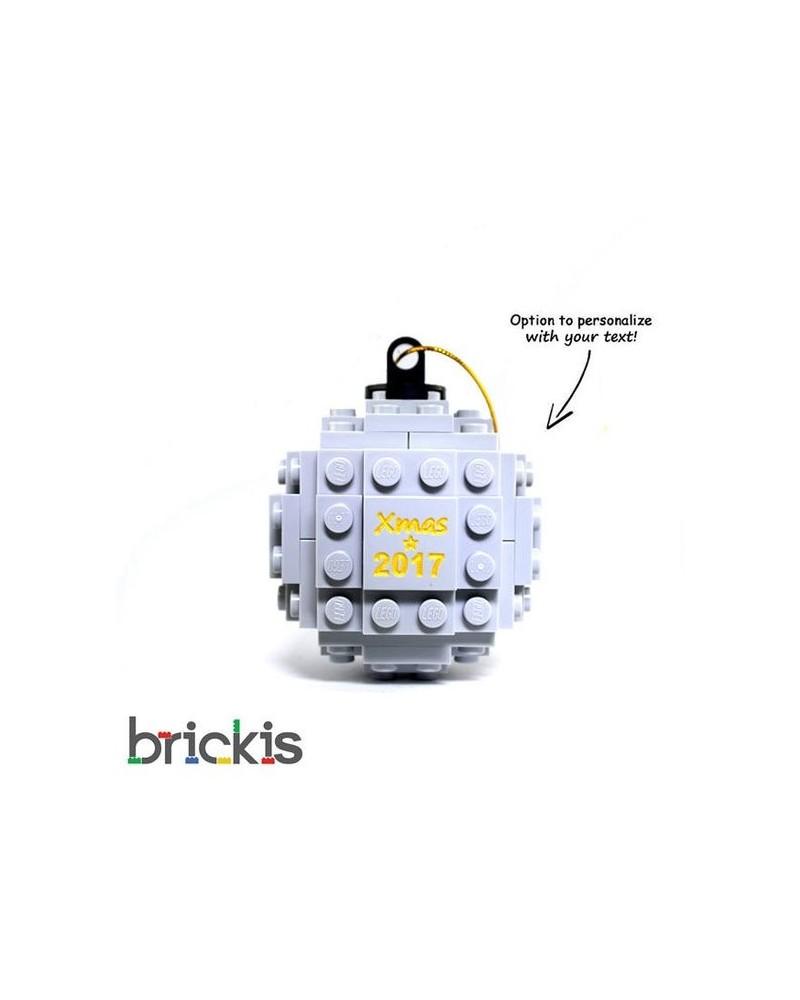 LEGO® Weihnachten graviert 2018 hellgrau