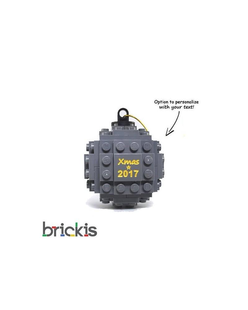 LEGO ® boule de Noël gravée 2018 gris foncé