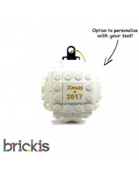 LEGO® Christmas engraved 2018 white