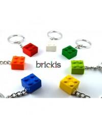 6 LEGO Schlüsselanhänger 2x2