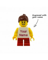 LEGO® minifigure girl ENGRAVED with name