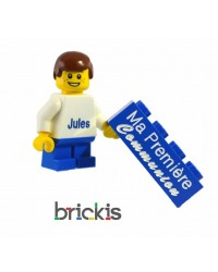 Personalized LEGO ® minifigure, with your name for the first communion,
