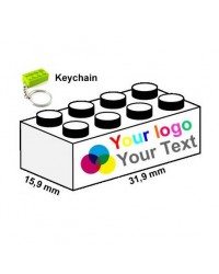 Keychain bricks 2x4 printed publicity marketing