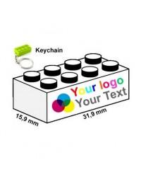 Porte clefs imprimé avec logo publicité