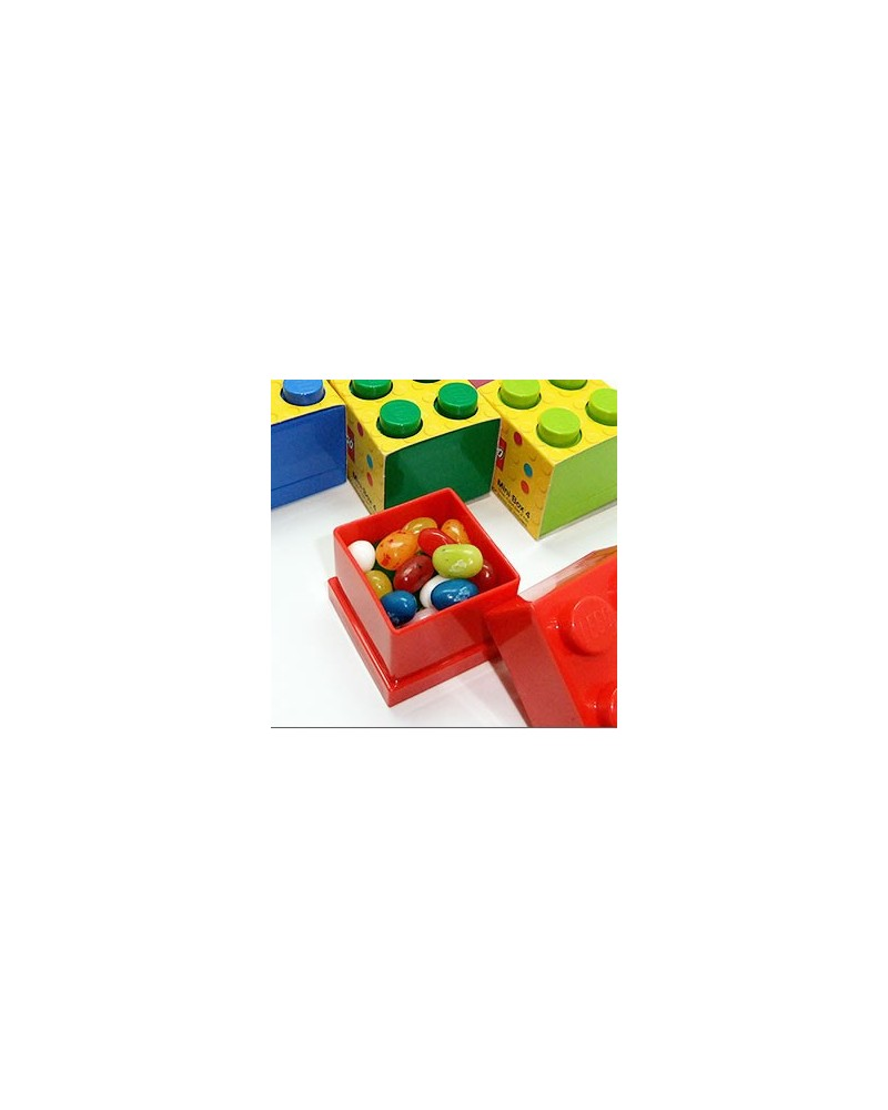 LEGO® party favor mini storage box as gift wrapping for your minifigure or brick