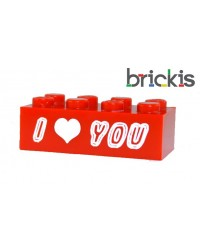 LEGO ® brick personalised engraved I Love You for Valentine