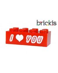 LEGO ® Stein personalisiert I Love You oder