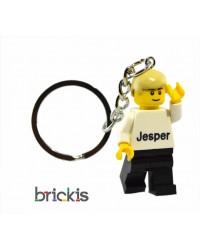 Porte clé de LEGO ® minifigure personnalisé, votre nom gravé