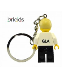 Sleutelhanger gemaakt met gepersonaliseerde LEGO® minifiguur, gegraveerd