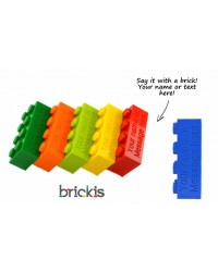LEGO® blokje met naam gepersonaliseerd met gravure met uw naam, website, email, enz...kies uw kleur