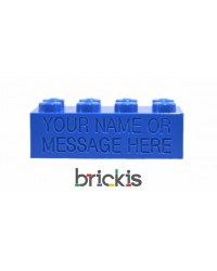 LEGO® brick 2x4 engraved blue